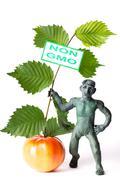 GMO concept danger figure of a man Stock Photos