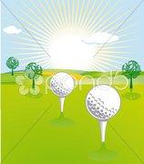 Golf Landschaft Stock Photos