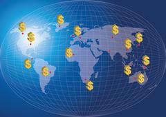 World map finance concept-Vector Illustration Stock Illustration