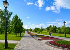Moscow, Russia - June 08. 2016. general form of Park Complex Tsaritsyno in a  Stock Photos
