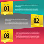 Vertical banner vector with number Stock Illustration