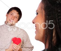 Young Valentines couple Stock Photos