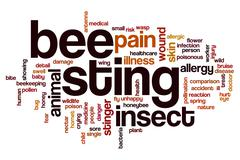 Bee sting word cloud Stock Illustration