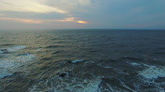 Seascape at dusk Stock Footage