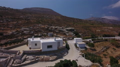 Empty new house in mountains Paros, Greece. Stock Footage
