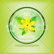 Go organic sign Stock Illustration