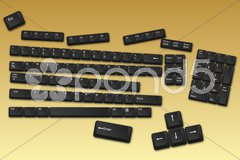 Keyboard buttons Stock Illustration
