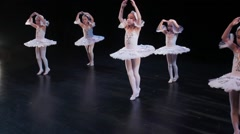 SWAN Lake Asian Chilldren Ballet Stock Footage