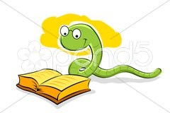 Book with snake Stock Illustration