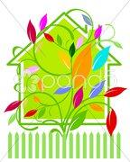 Haus farbig Stock Photos