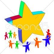 Happy Star Stock Photos