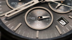 Second Hand On The Chronograph. Luxury Watch Face. Extreme Close Up. Stock Footage