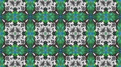 Kaleidoscopic generated seamless loop video Stock Footage