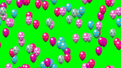 Easter eggs balloons generated seamless loop video green screen Stock Footage