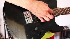 Man Playing Electrical Guitar Stock Footage