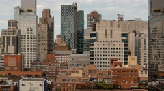 Aerial view of cityscape high rise buildings. new york city scene Stock Footage