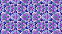 Glass mosaic kaleidoscopic generated seamless loop video Stock Footage