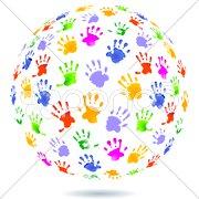 Welt Kinder-Hände Stock Photos