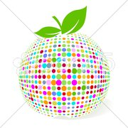 Farb Apfel Stock Photos