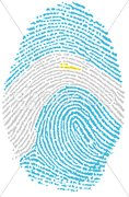 Fingerprint - argentina Stock Photos
