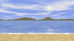 Sunny sea landscape generated seamless loop video Stock Footage