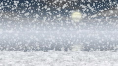 Snowy landscape generated seamless loop video Stock Footage