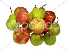Äpfel und Birnen Stock Photos