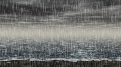 Rainy sea landscape generated seamless loop video Stock Footage