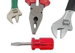 Set of tools Stock Photos