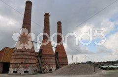 Old dutch brink furnace Stock Photos