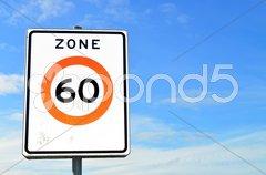 60 km/h Speed Limits Stock Photos