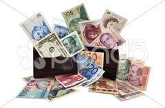 World currencies Stock Photos