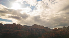 Time Lapse of Evening Sky over Boynton Canyon Vortex in Sedona, AZ -Pan Right- Stock Footage