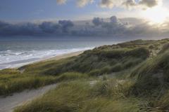 Beach and Dunes, Sylt, North Frisian Island, Schleswig-Holstein, Germany Stock Photos