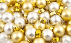 Full pack of opaque christmas balls Stock Photos