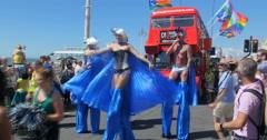 Brighton gay pride parade Stock Footage