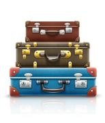 Old retro vintage suitcases bags for travel Stock Illustration