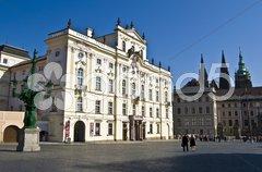 Old palaces in Prague Stock Photos