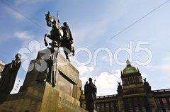 Wenceslas square Stock Photos