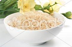 Reis in einer Porzellanschüssel Stock Photos
