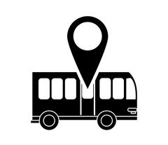 Bus and gps map pointer icon Piirros