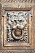 Wooden lion Stock Photos