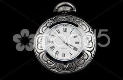 Elegant flower pocket watch Stock Photos