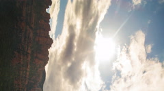 Time Lapse of Evening Sky over Boynton Canyon Vortex in Sedona, AZ -Vertical/Pan Stock Footage