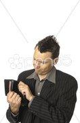 Business-Punk, Manager mit leerer brieftasche Stock Photos