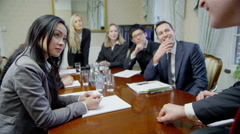 Happy and enthusiastic team of professionals Stock Footage