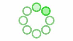 Loading screen circular, green on white background - 4k 30fps loop - video te Stock Footage