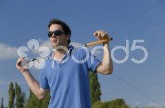 Junge Golfer Stock Photos
