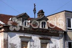Marodes Wohnhaus in Mettlach Stock Photos