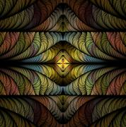 Modern stylish abstract fractal texture is a computer-generated image Stock Illustration